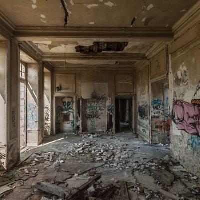 Fallen ballroom